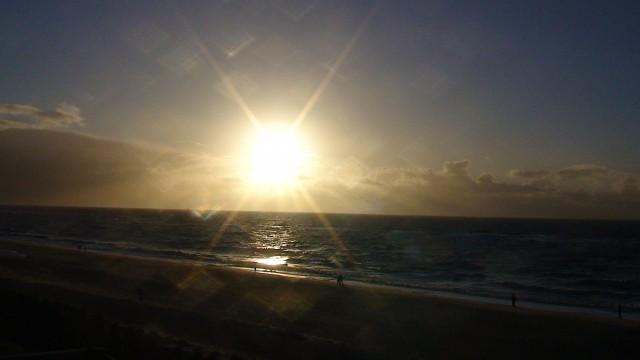 Abendsonne über See